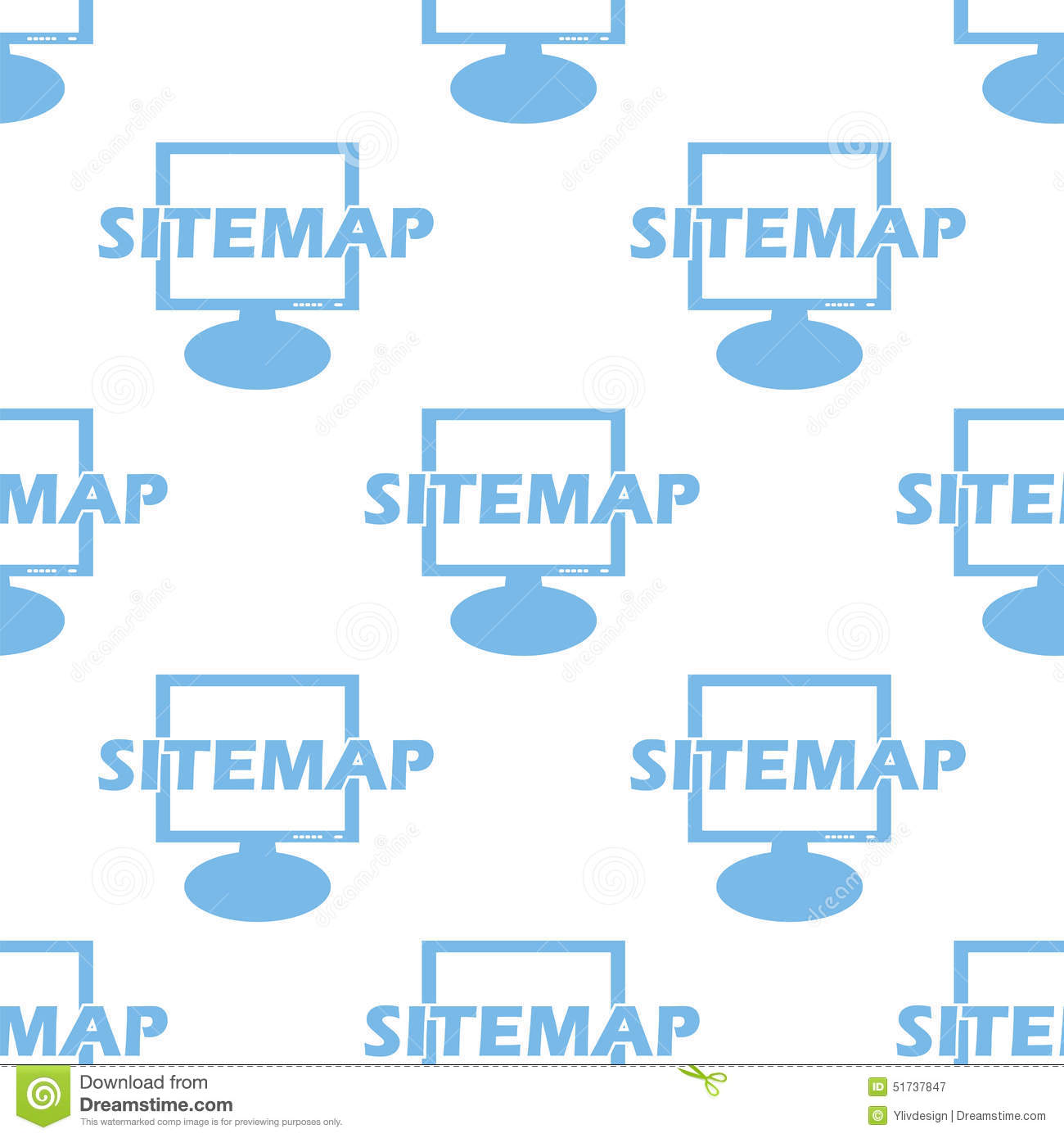 Nahtloses Muster Sitemap