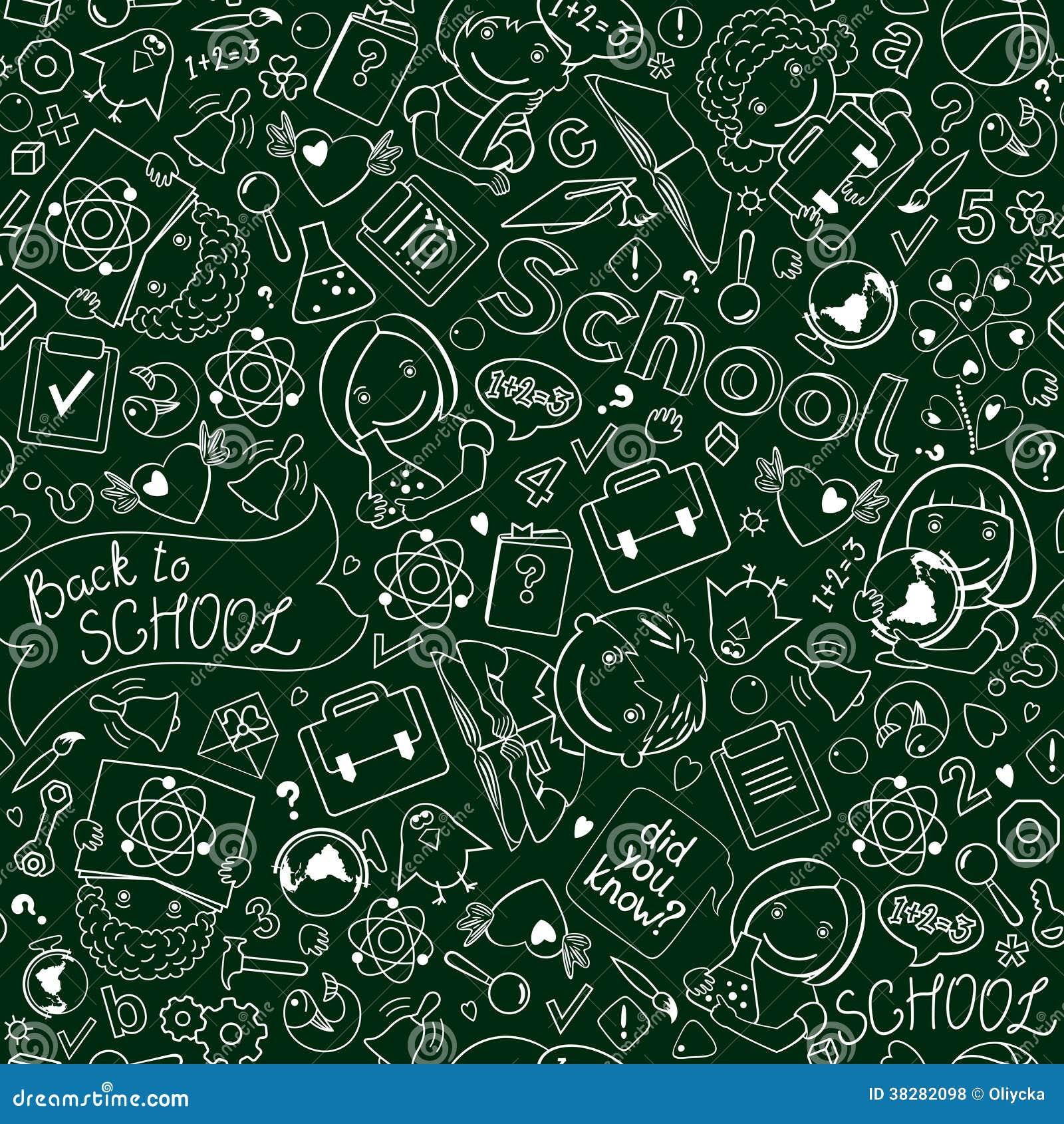 nahtloses muster tafel mit schule drawinds lizenzfreie stockfotos bild 38282098. Black Bedroom Furniture Sets. Home Design Ideas