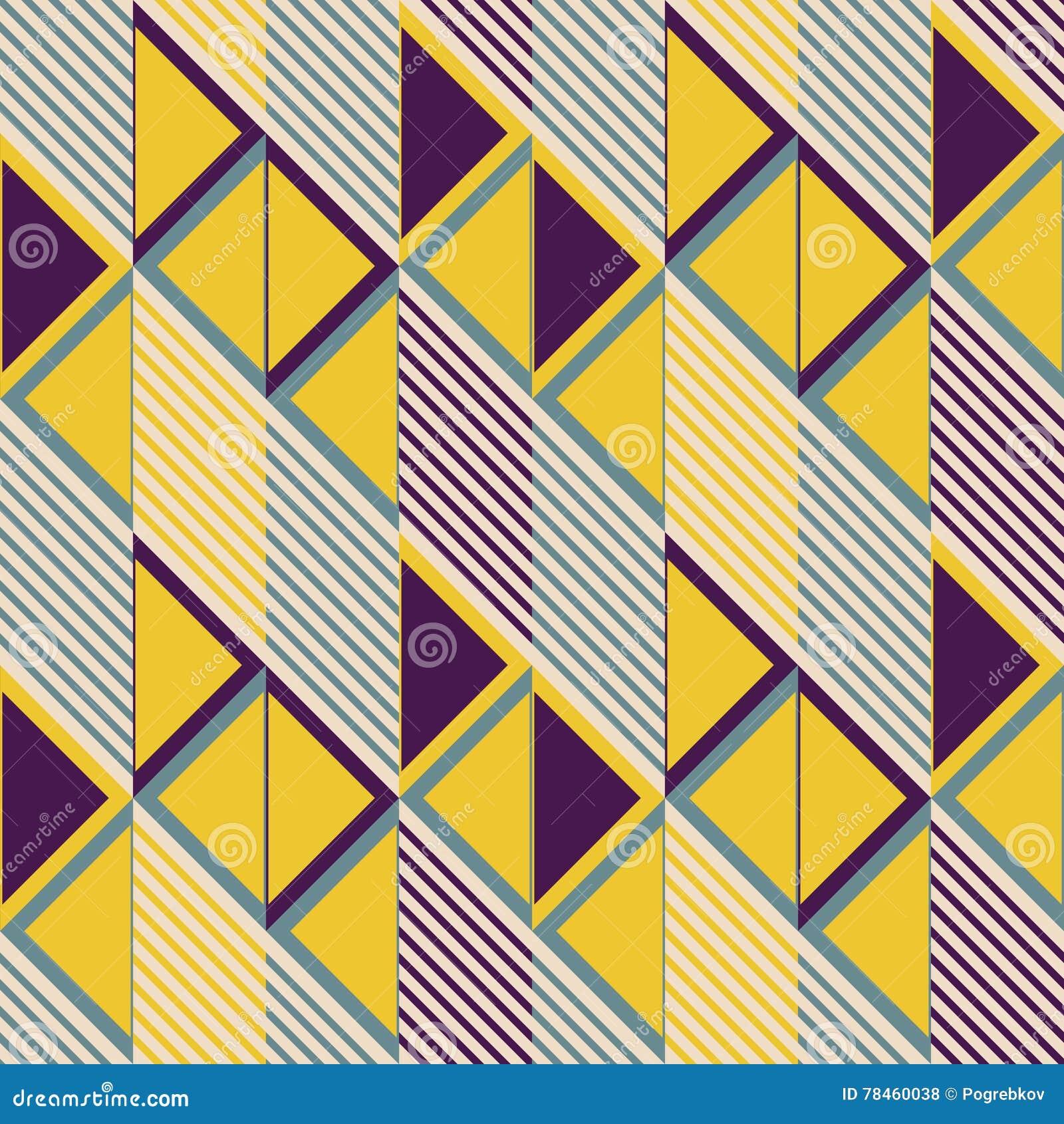 Nahtloses Muster Von Parallelogramm Fliesen In Den Retro Farben