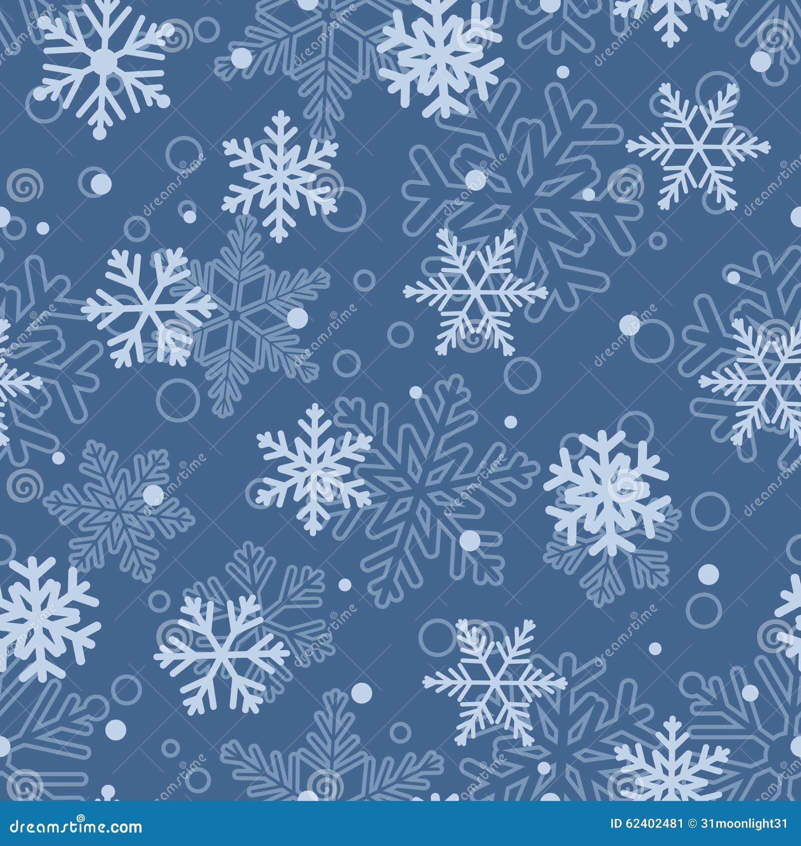 Nahtlose Schneeflocken Muster Lizenzfreies