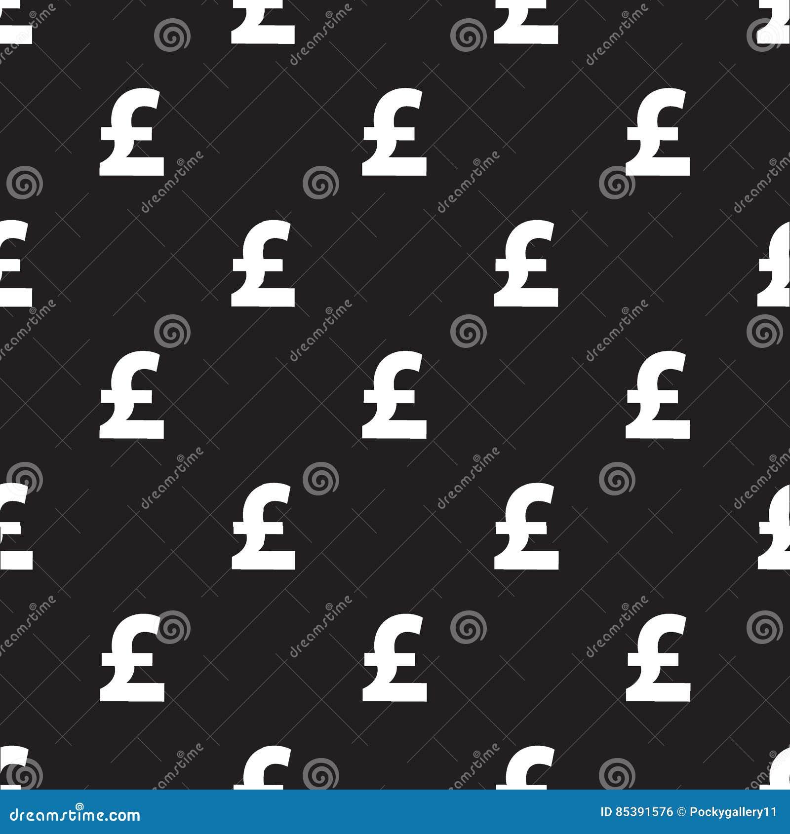 Nahtloses Pfundwährungsmuster auf Schwarzem