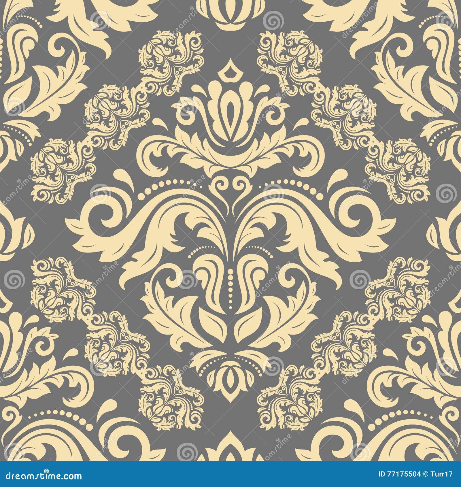 Bettwasche Barock Muster ~ Nahtloses vektor barock muster abbildung