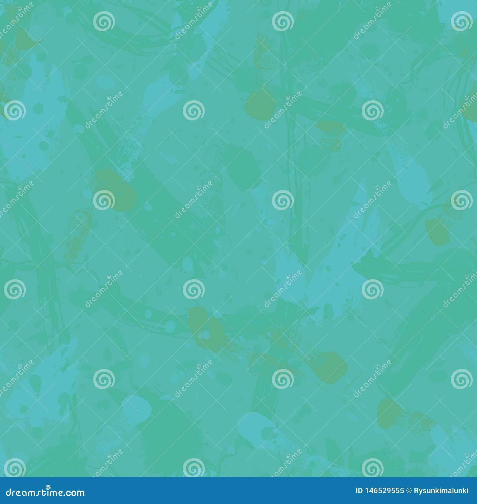 Nahtloses Vektorbeschaffenheitsmuster mit Türkis spritzt und brushmarks