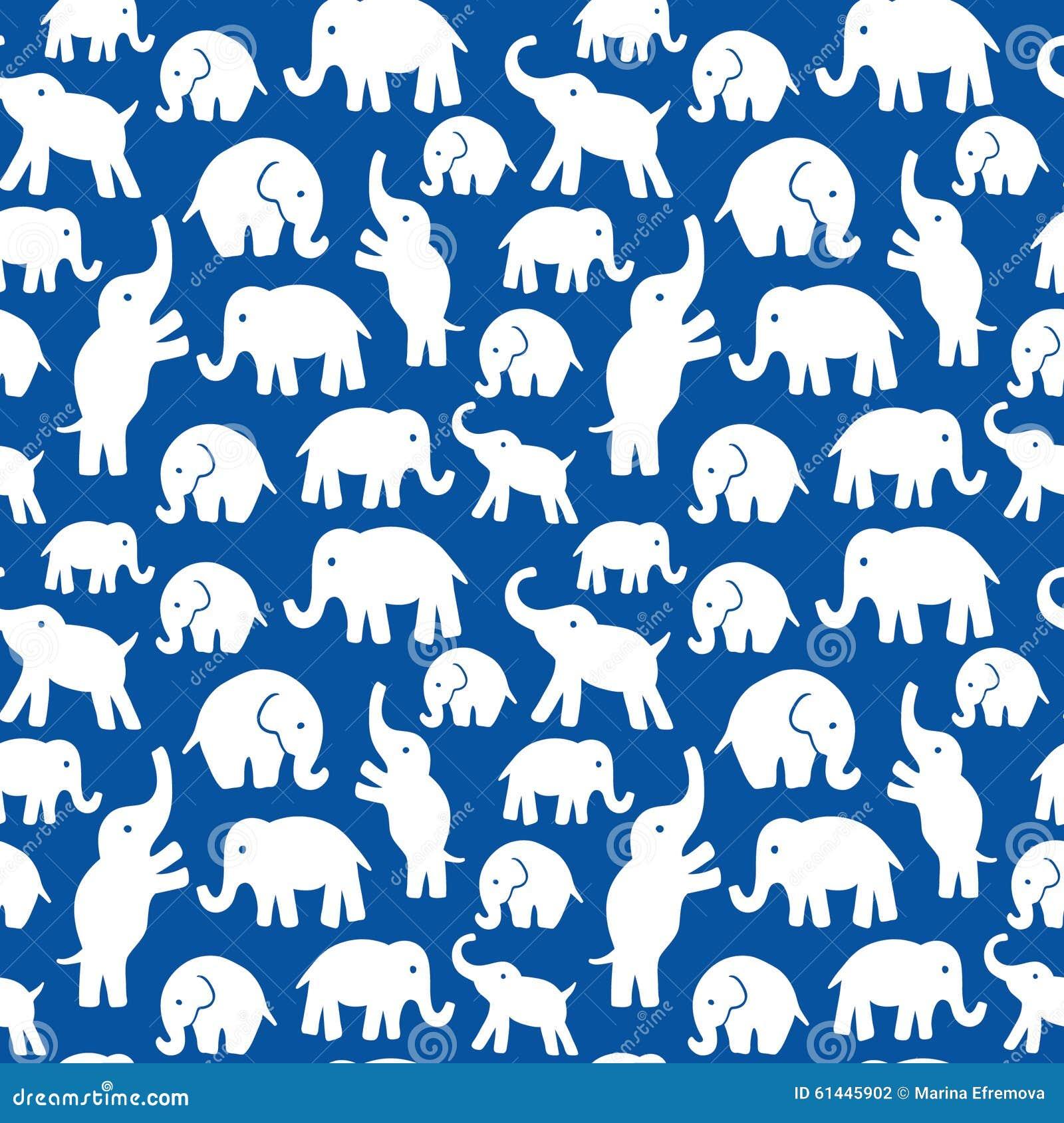 Nahtloses Vektormuster mit Elefanten Kann für Gewebe, Websitehintergrund verwendet werden