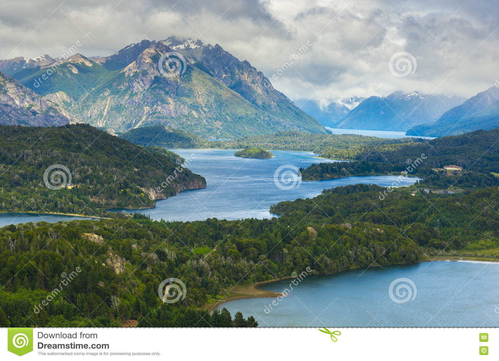 Nahuel Huapi national park from Cerro Campanario near Bariloche, Argentina