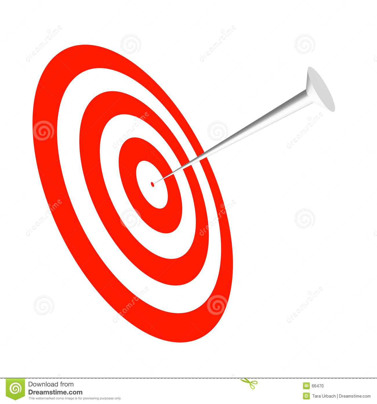 rendered target and nail to help drive your point home.