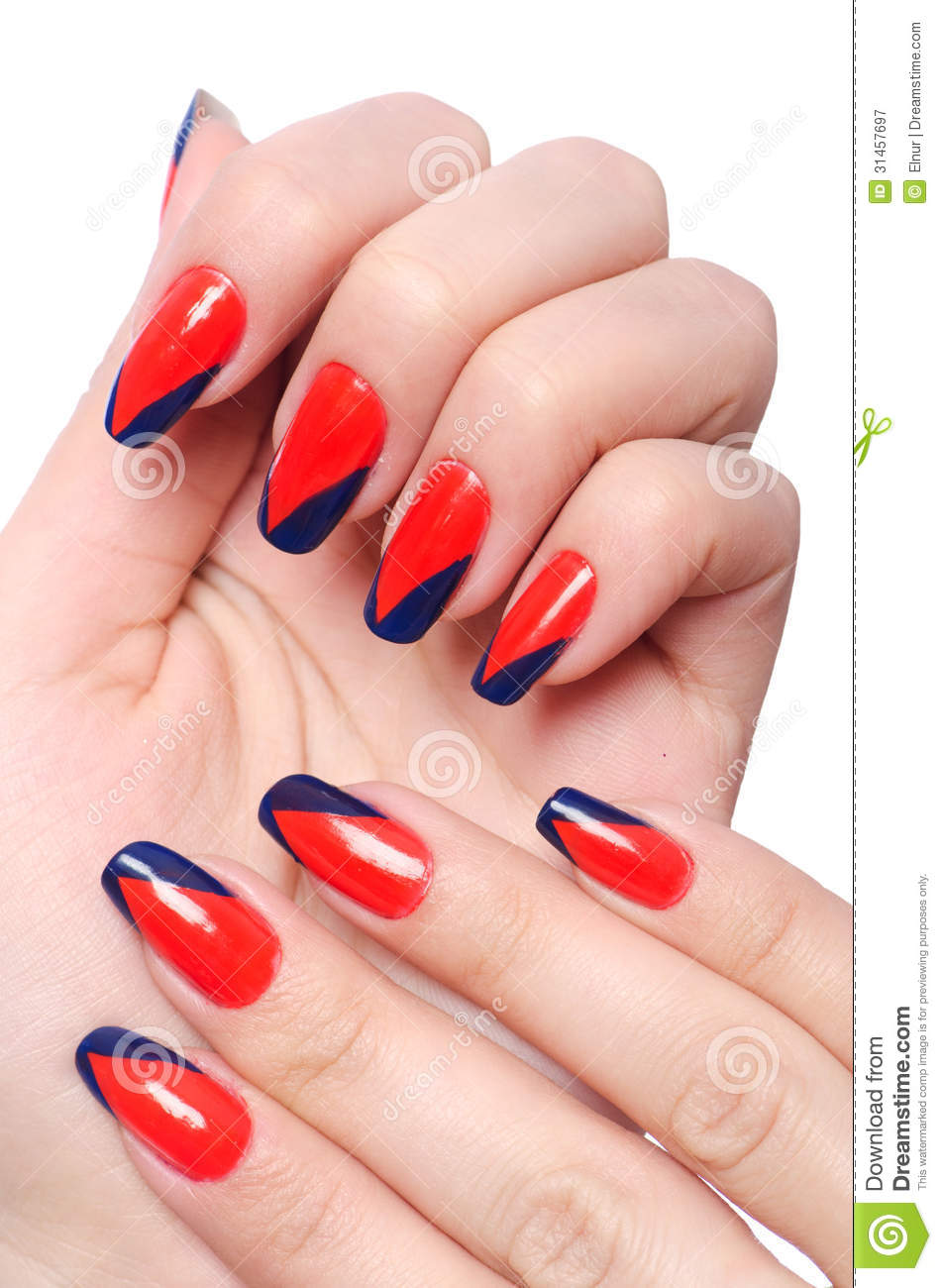 Nail Art Concept With Hands Stock Image Image Of Beautiful Hand