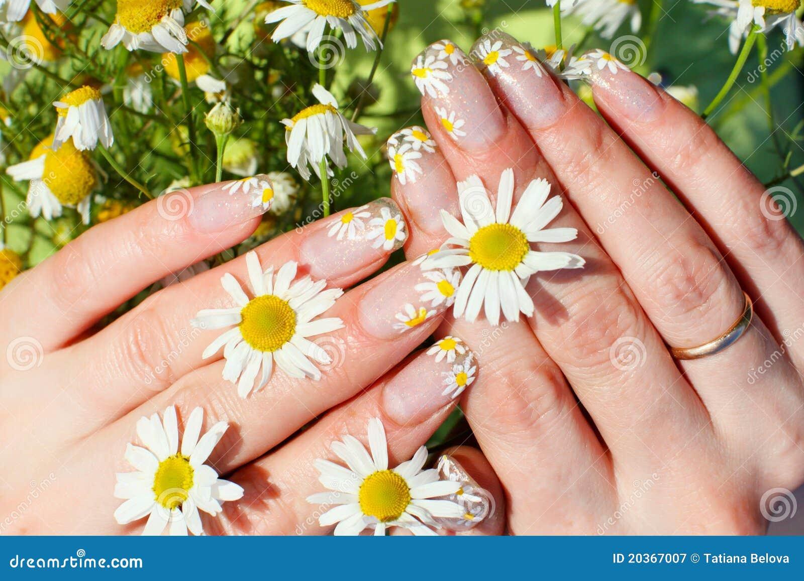 Nail art design stock image. Image of white, women, meadow - 20367007