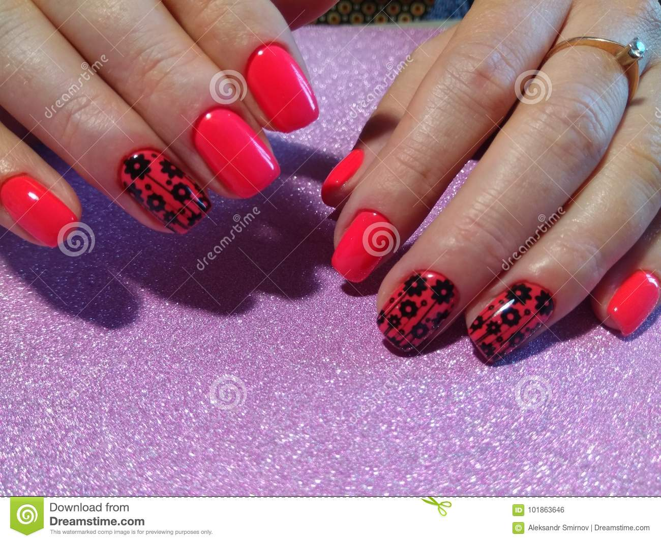 Nail Art Design Nail Polish Beauty Hands Stock Photo Image Of