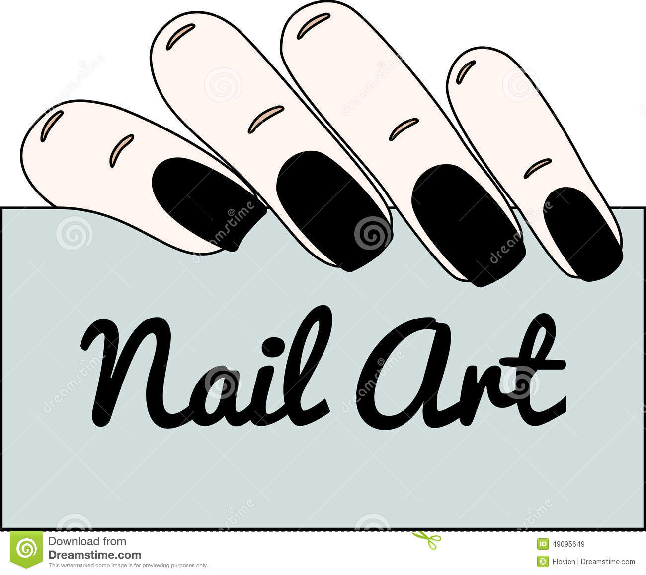 Nail art. Gothic manicure. stock vector. Illustration of glamour ...