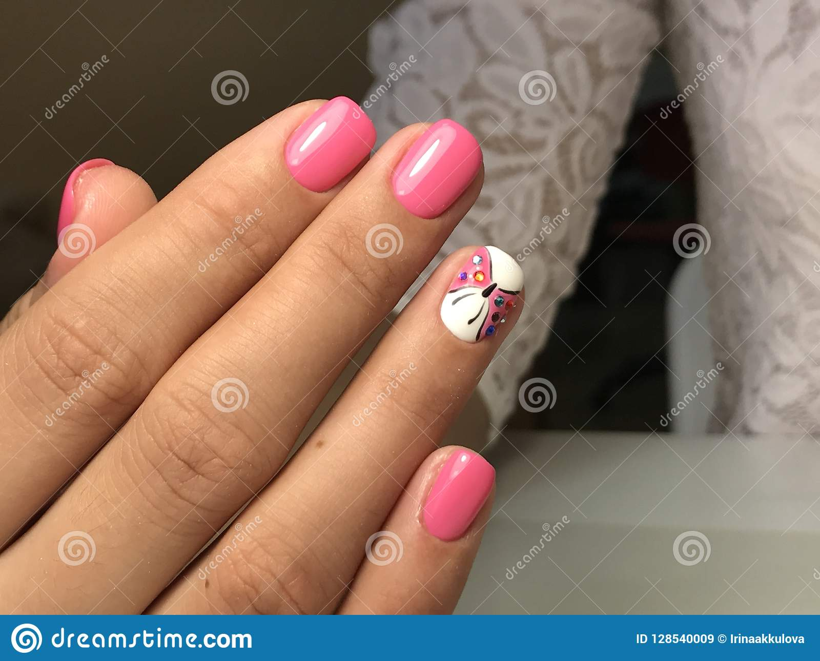 Nail art ideas, butterfly stock image. Image of ideas - 128540009
