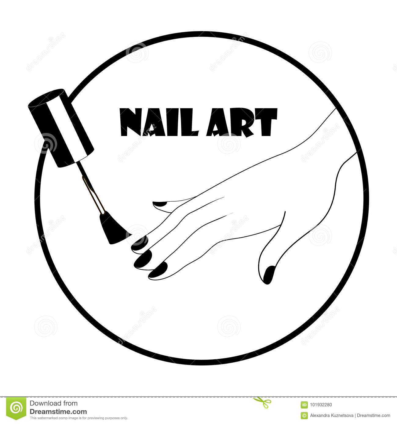 Nail Art Logo Stock Illustration Illustration Of Glass 101932280