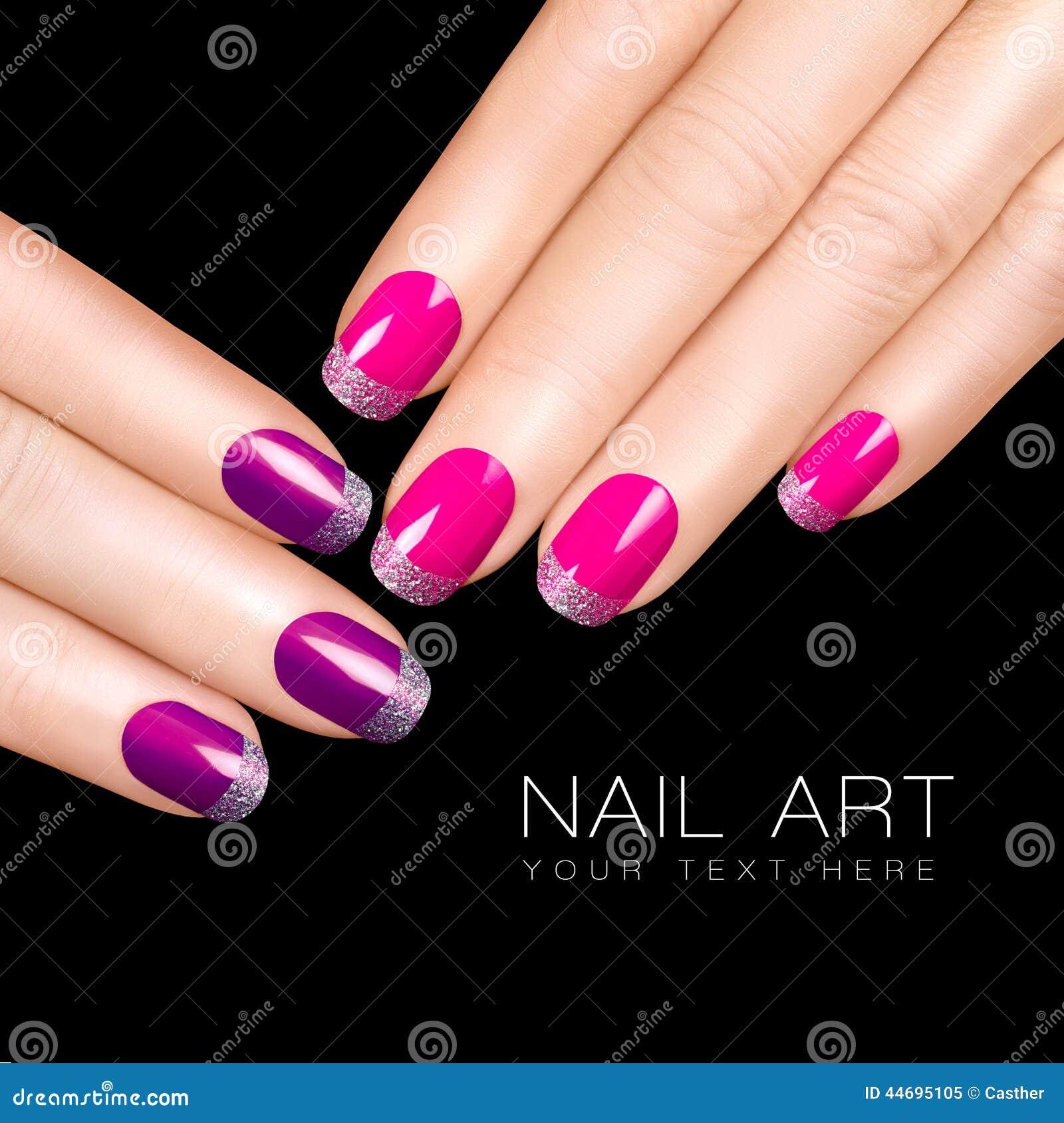 holiday nail art luxury nail polish glitter nail stickers in purple