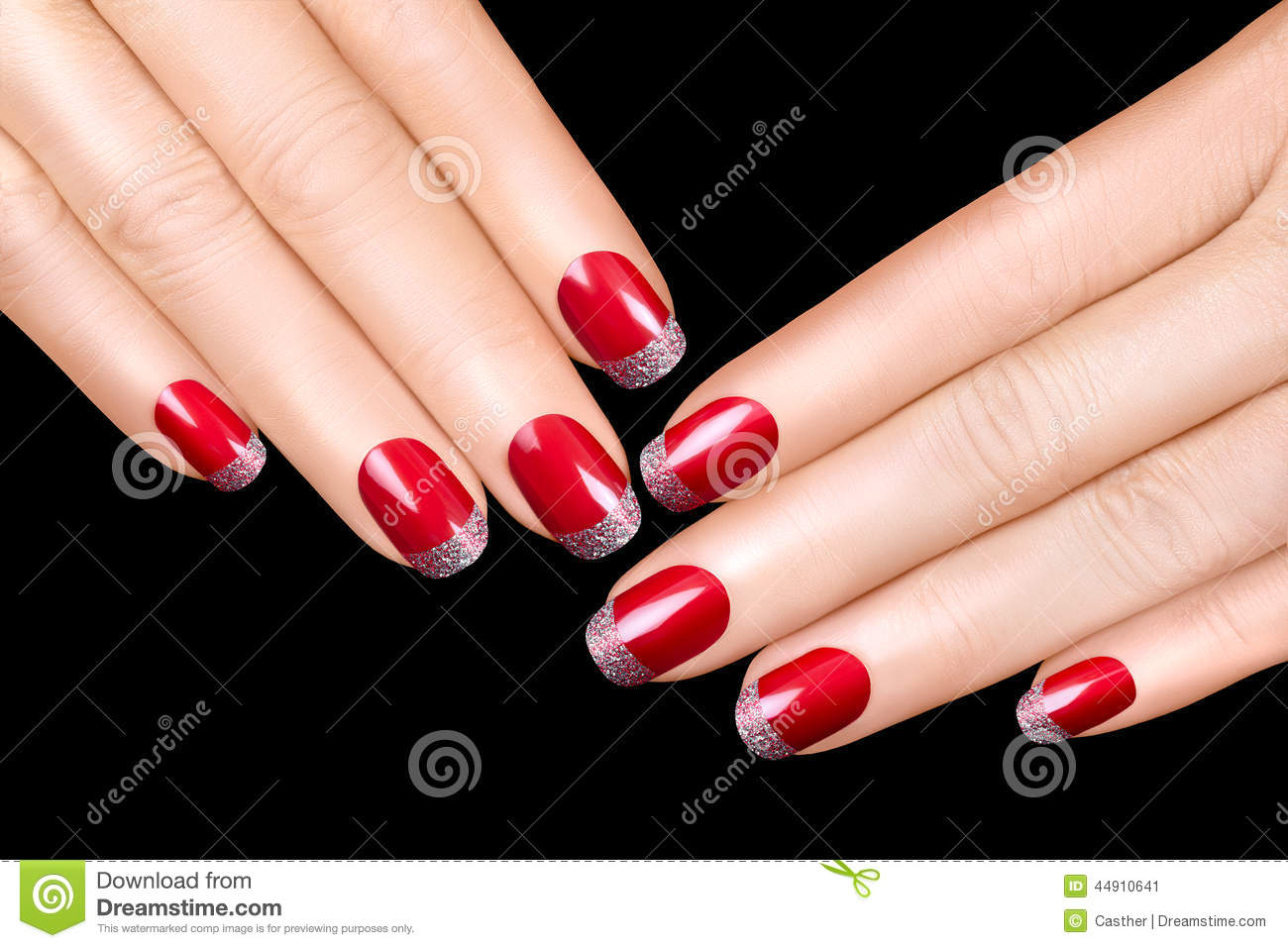 Nail Art. Luxury Nail Polish. Nail Stickers Stock Image - Image of ...