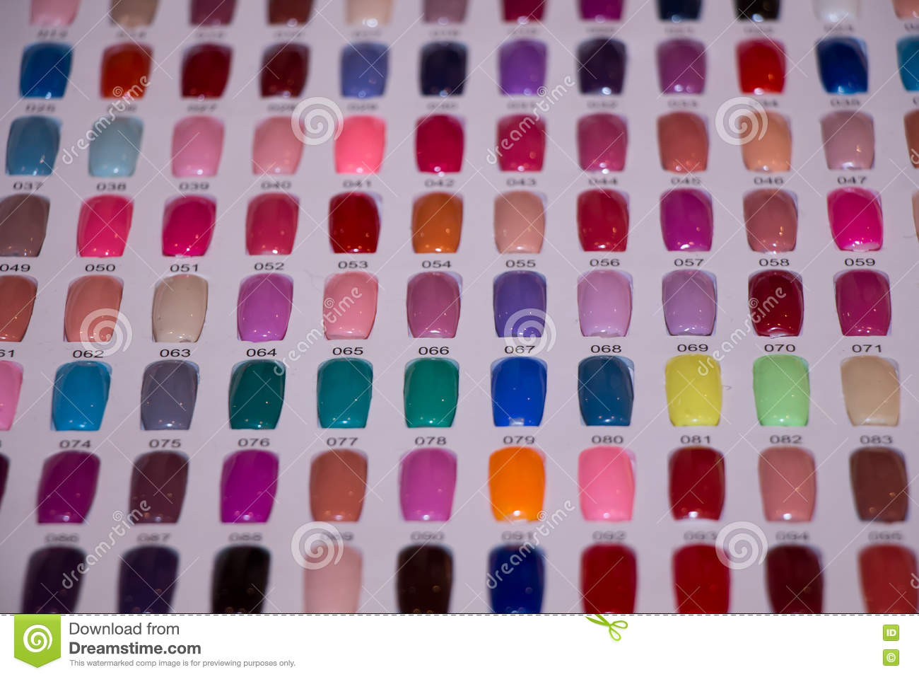 Nail art palette stock image. Image of hand, contrasts - 72798213