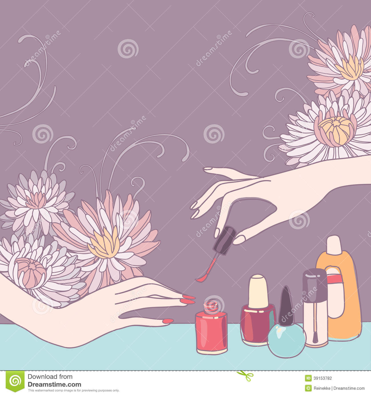 Nail art salon stock photo image 39153782 for Photo salon