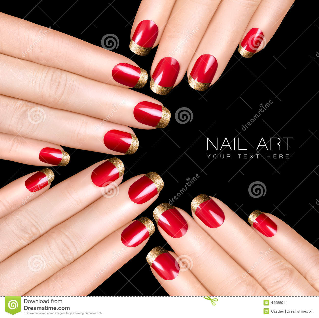Nail Art Trend Luxury Nail Polish Nail Stickers Stock Image