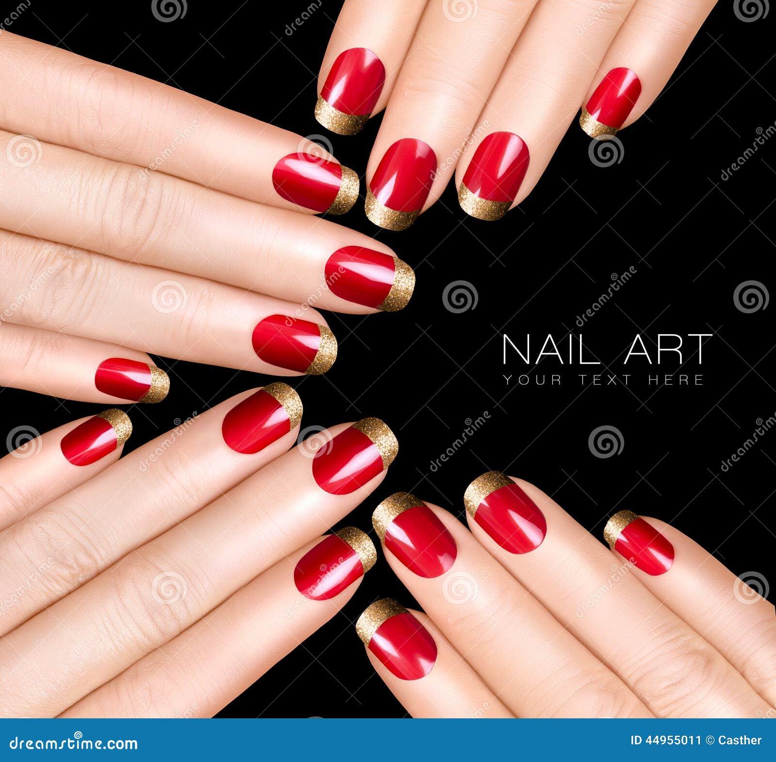 nail art trend luxury nail polish nail stickers stock photo image