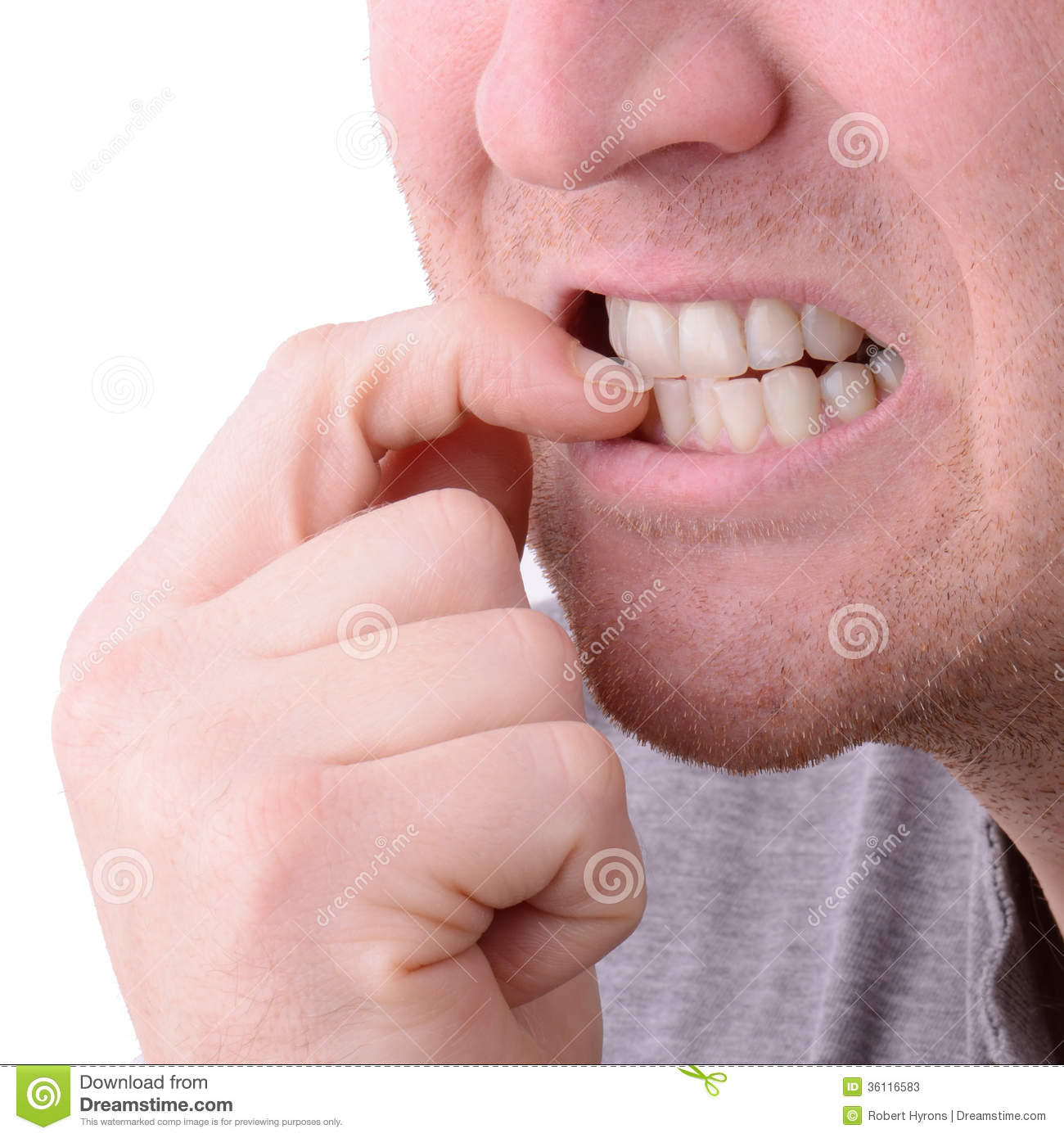 Nail biting stock image. Image of finger, person, stomach ...