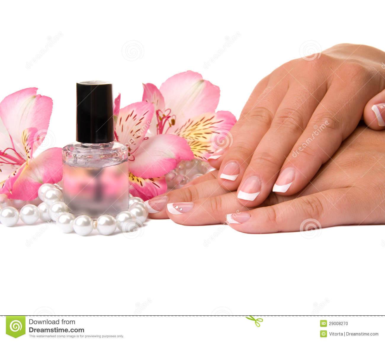 Nail Care For Women's Hands Stock Photo