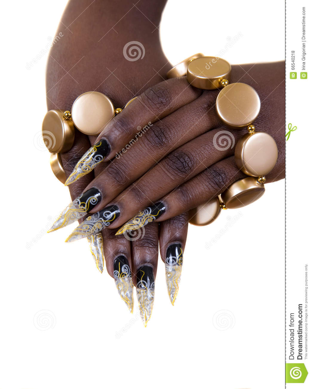 Nail Design Manicure Stock Photo Image Of Isolated Metal 66540218