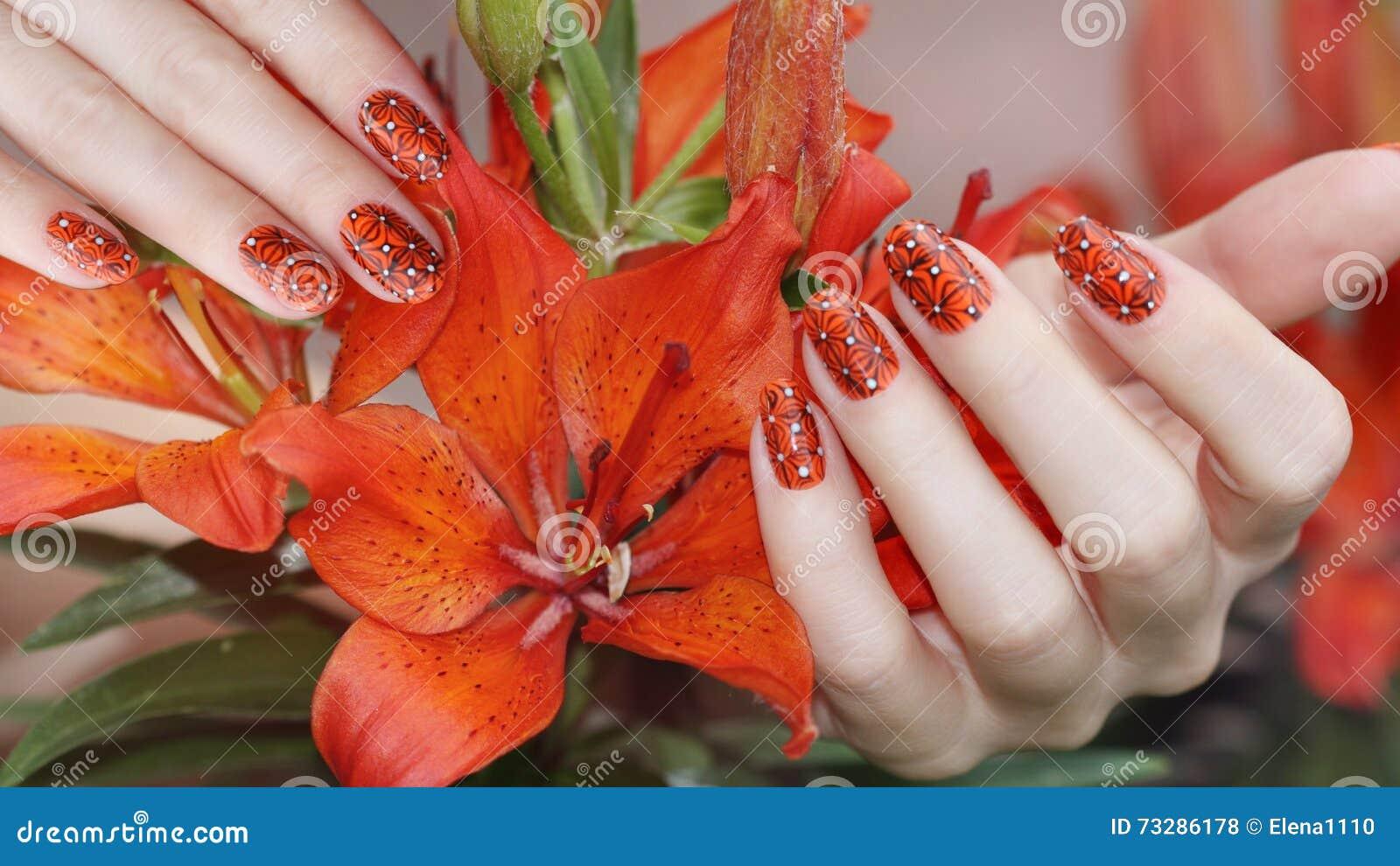 Nail Design Manicure Nail Paint Stock Photo Image Of Edge