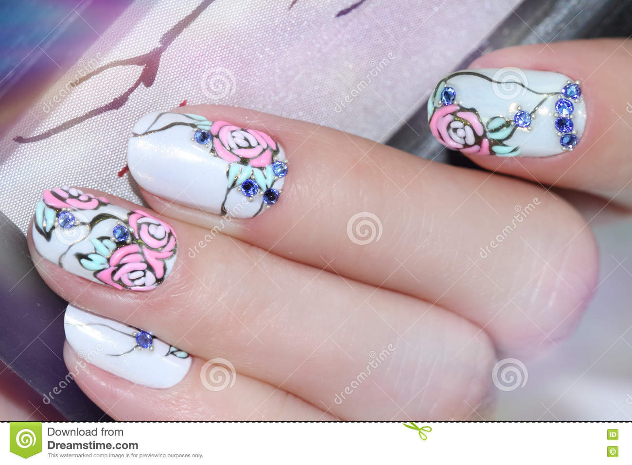 Nail Design . Manicure Nail Paint . Stock Image - Image of beautiful ...