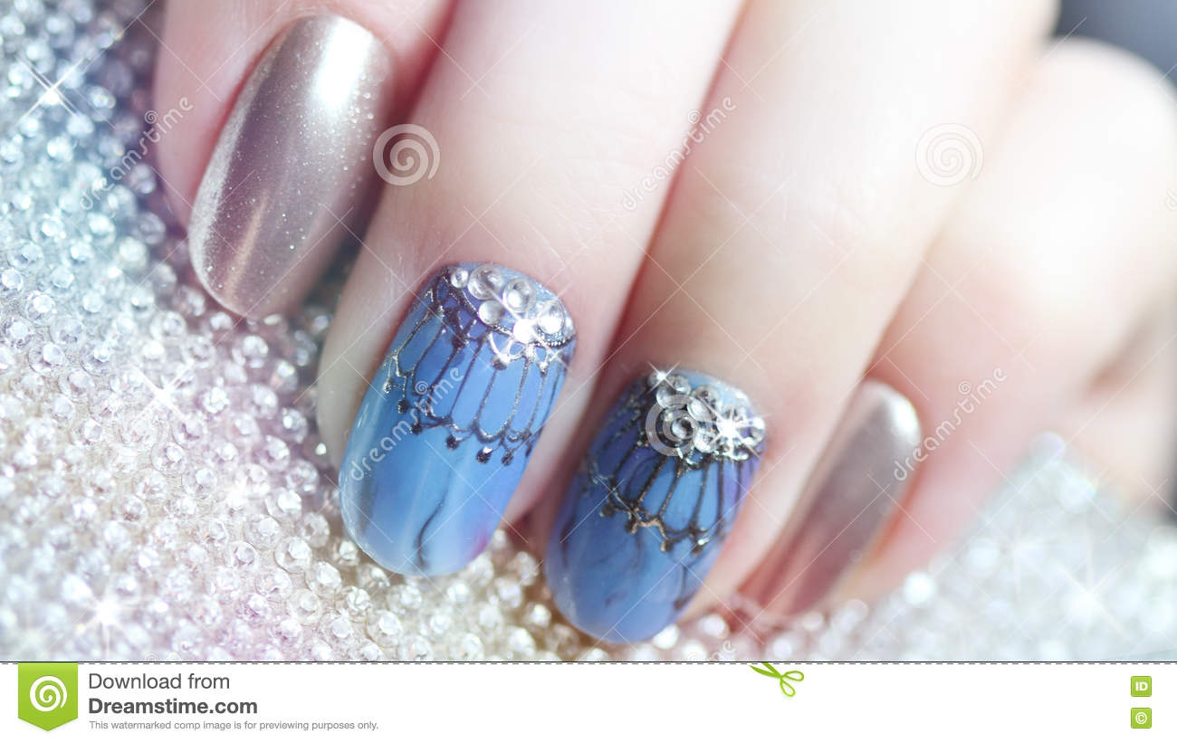 Nail Design Manicure Nail Paint Stock Image Image Of Paint