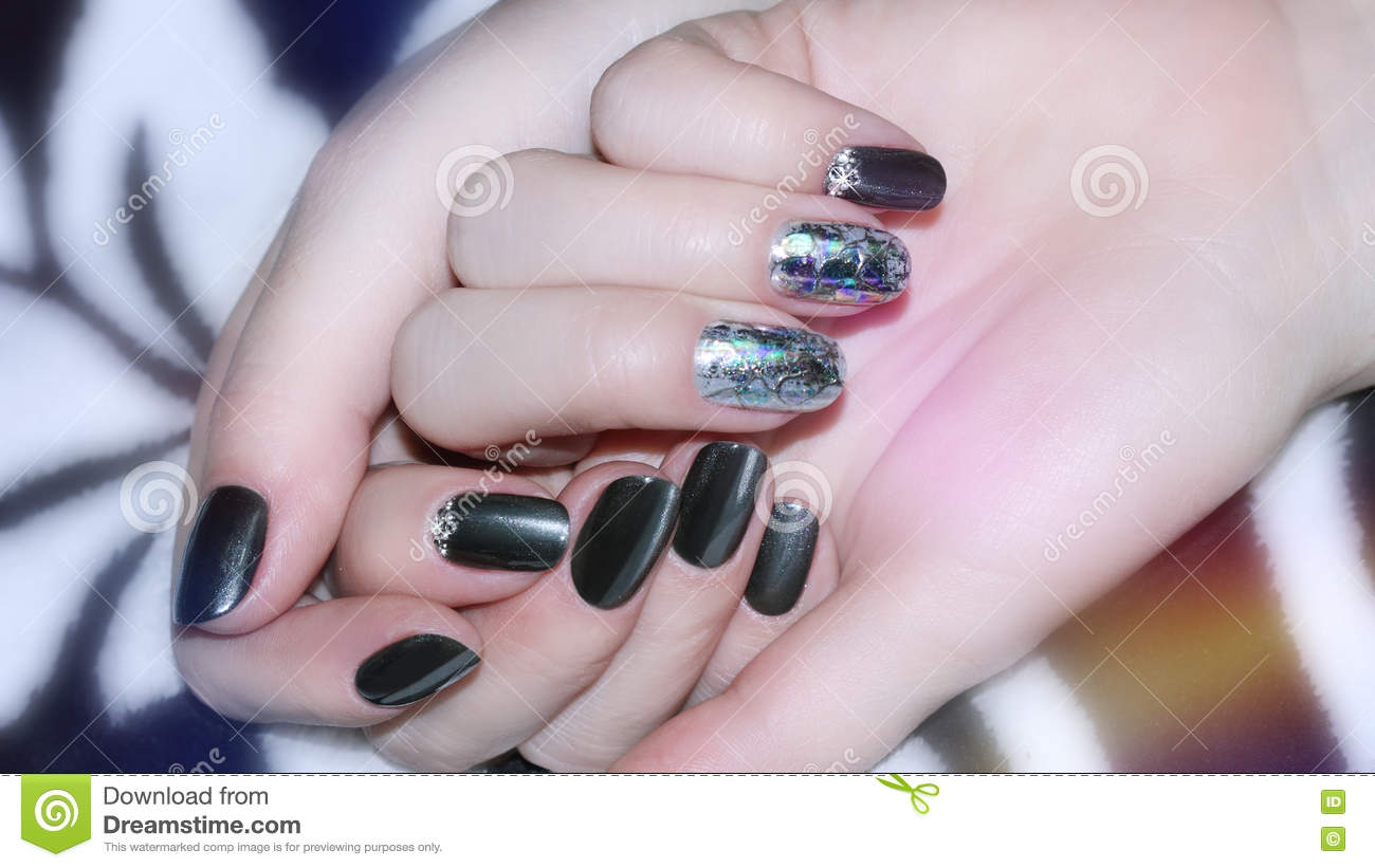 Nail Design Manicure Nail Paint Stock Photo Image Of Brush