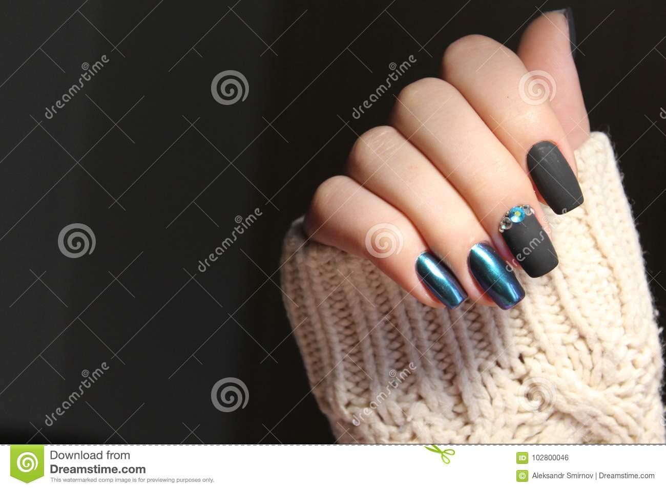 Nail design stock photo. Image of paint, color, beautiful - 102800046