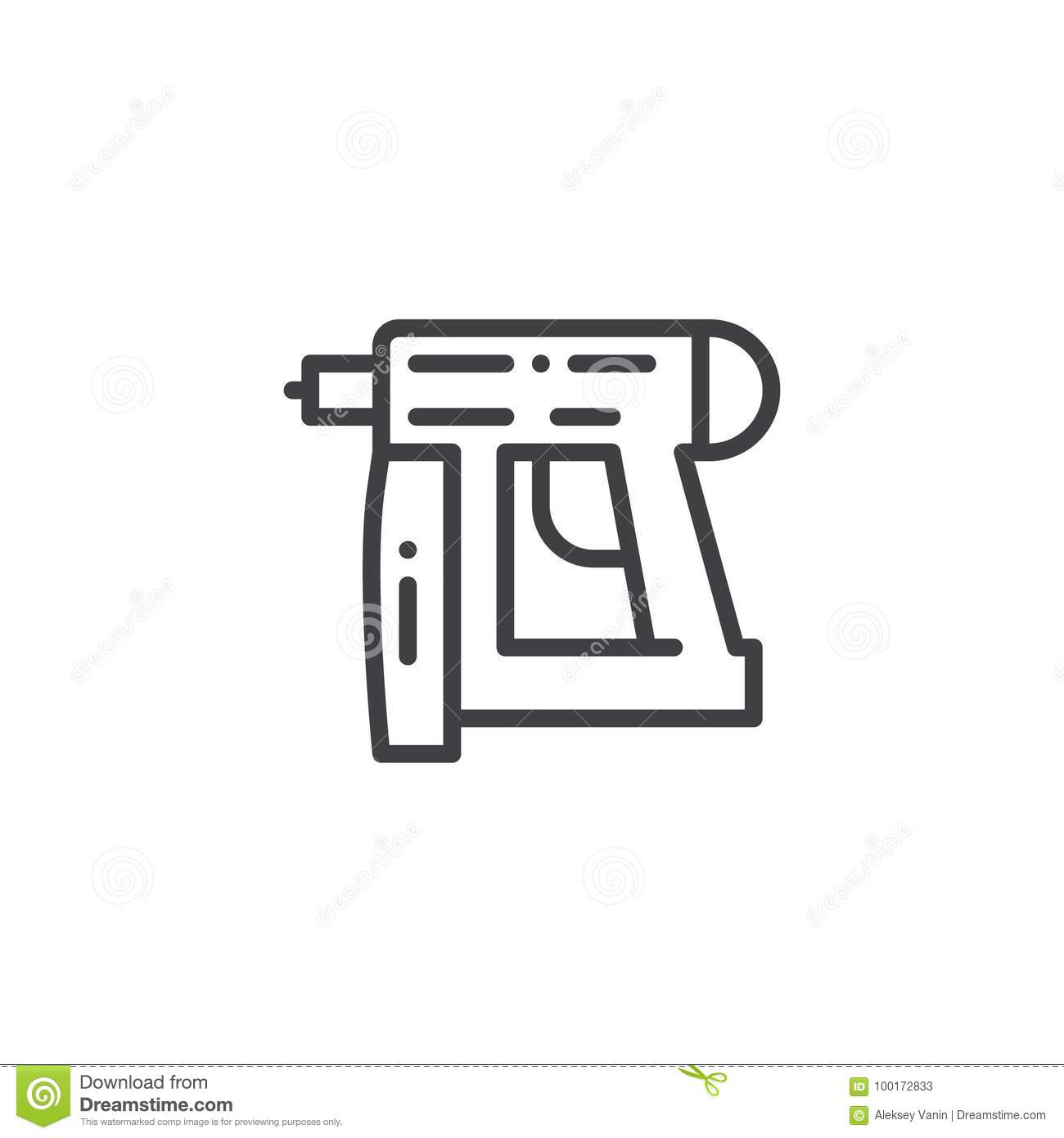 Nail gun line icon stock vector illustration of construction nail gun line icon biocorpaavc Images