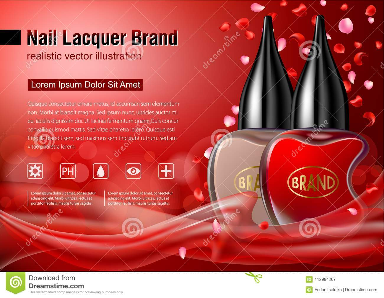 Nail lacquer advertising mock up.