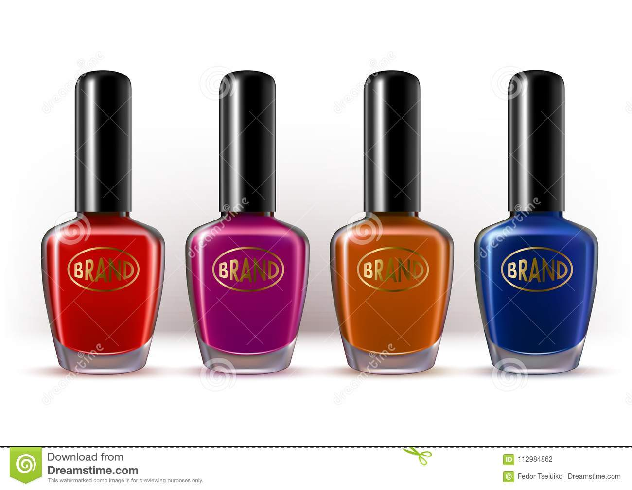 Nail lacquer container colorful collection.