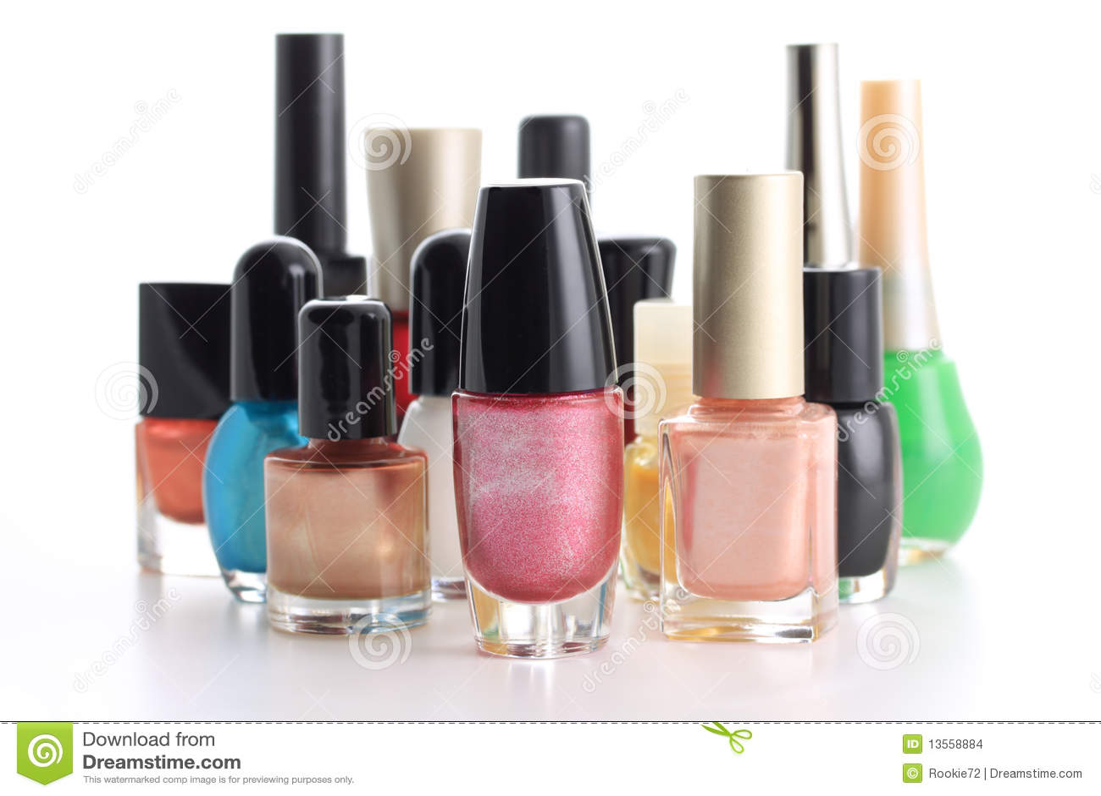 Nail Polish Bottle Composition Stock Photo - Image of beauty ...