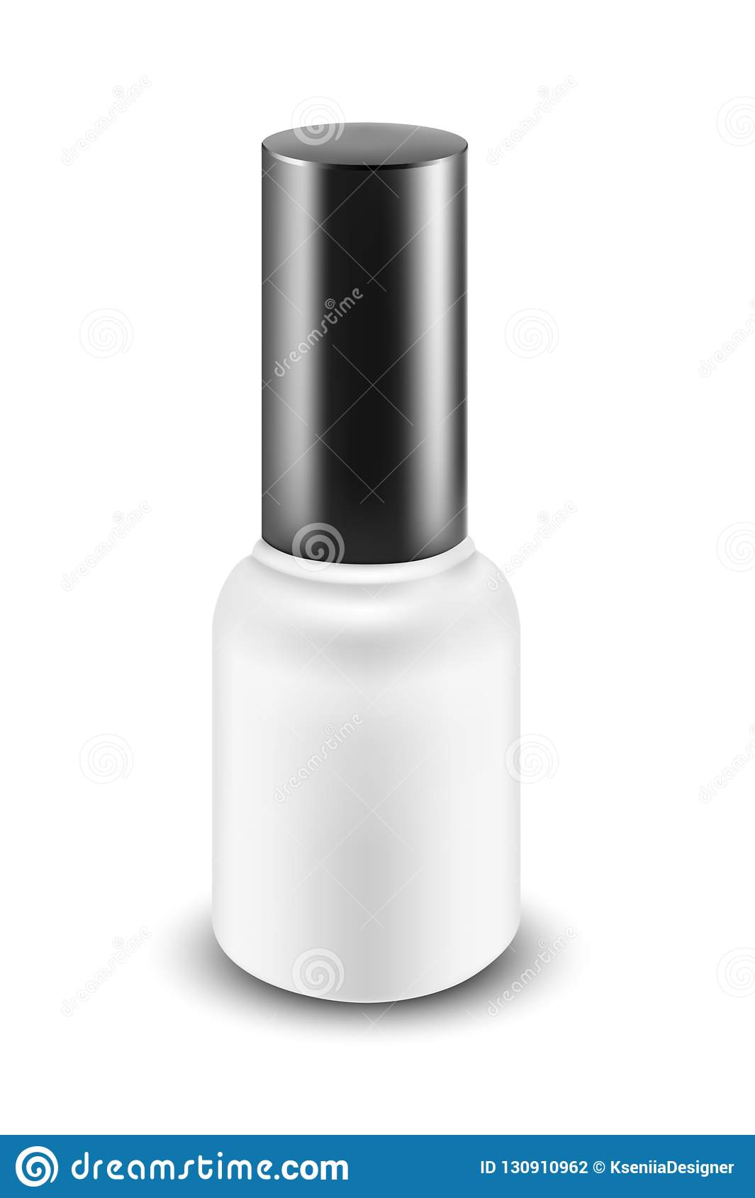 Nail Polish Bottle. Packaging For Cosmetics Stock Vector ...
