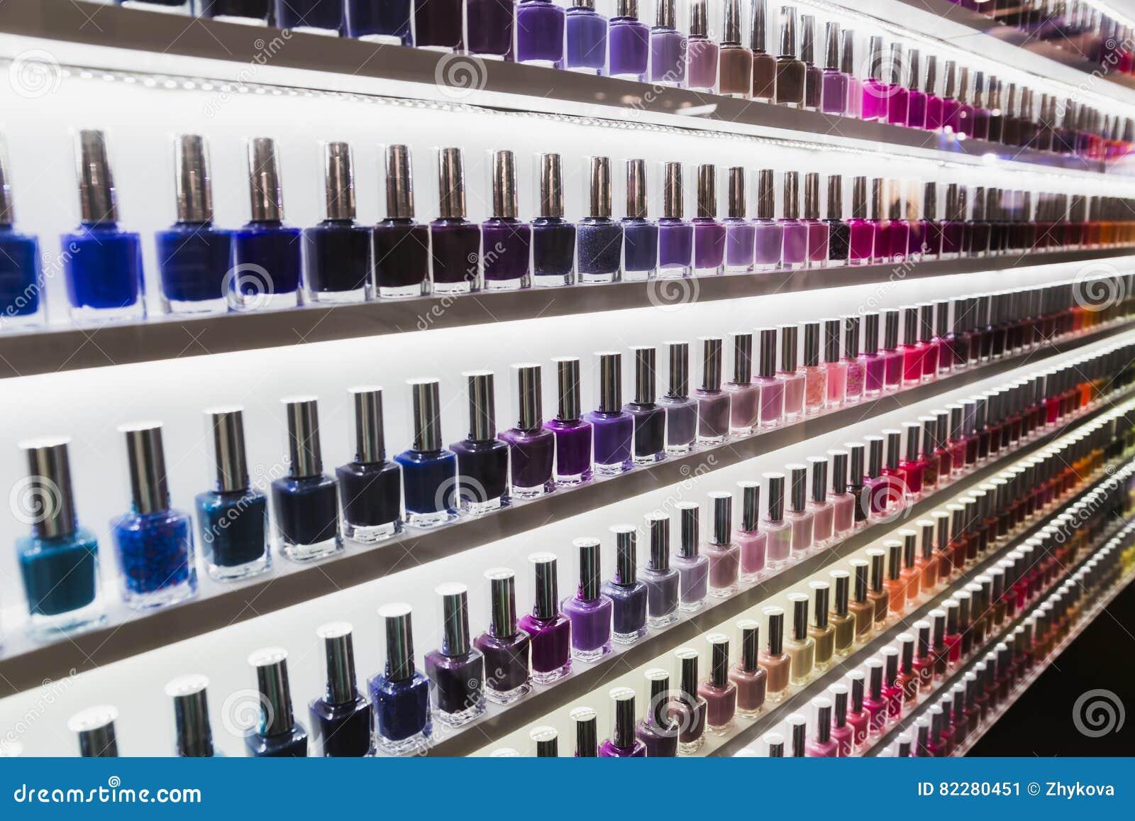 Nail Polish Collar Color Lakes Stock Image - Image of liquid ...