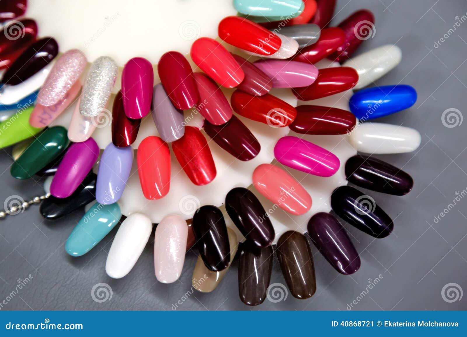 Nail polish samples set stock image. Image of luxury - 40868721