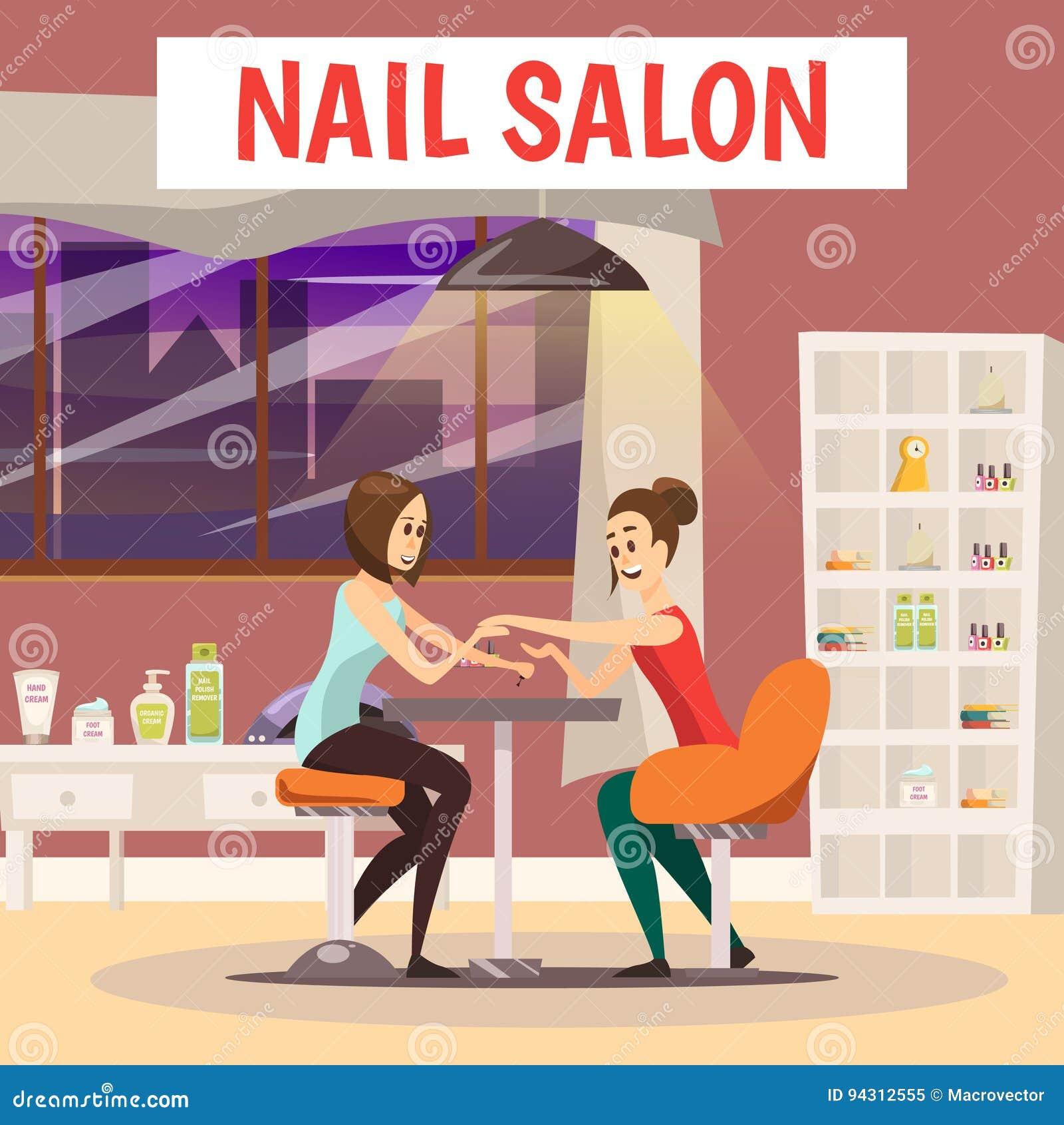 Nails Art Beauty Salon Background Stock Vector: Pedicure Cartoons, Illustrations & Vector Stock Images