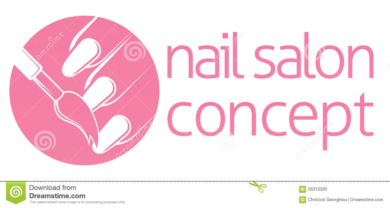 salon logo stock photos images pictures images nail salon or bar concept royalty stock photo