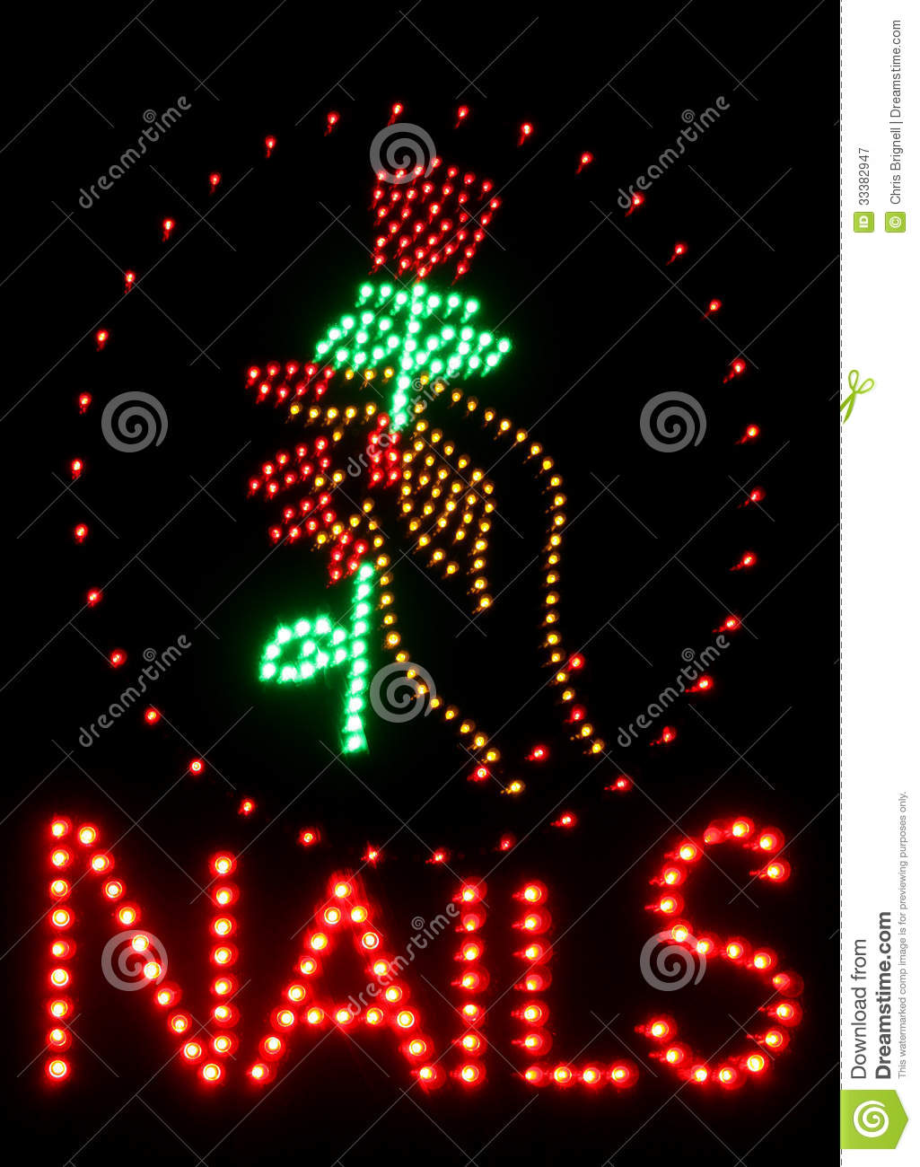 Nail salon neon sign stock image. Image of glowing, neon - 33382947