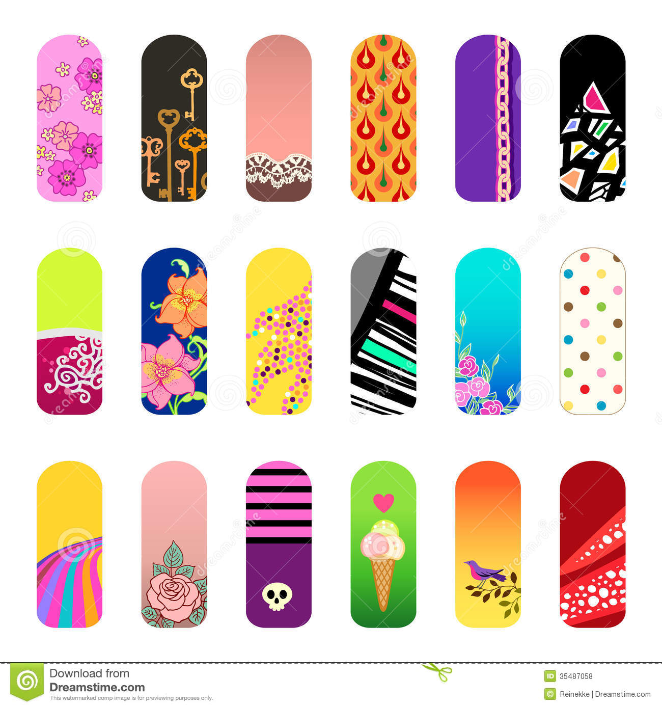 Nail stickers royalty free stock photos image 35487058 for Stickers salon design