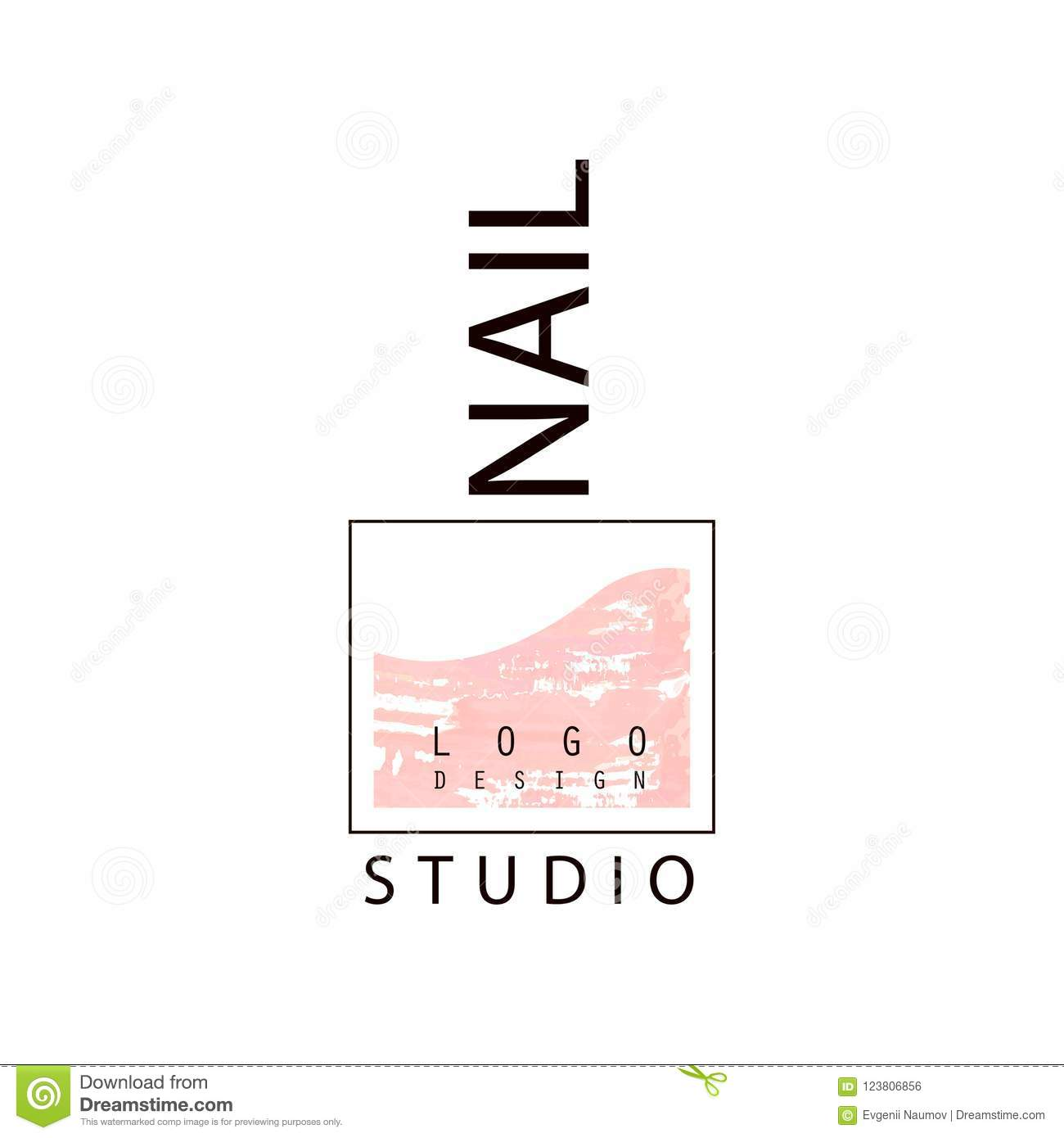 Nail Studio Logo, Creative Template For Nail Bar, Manicure Saloon ...