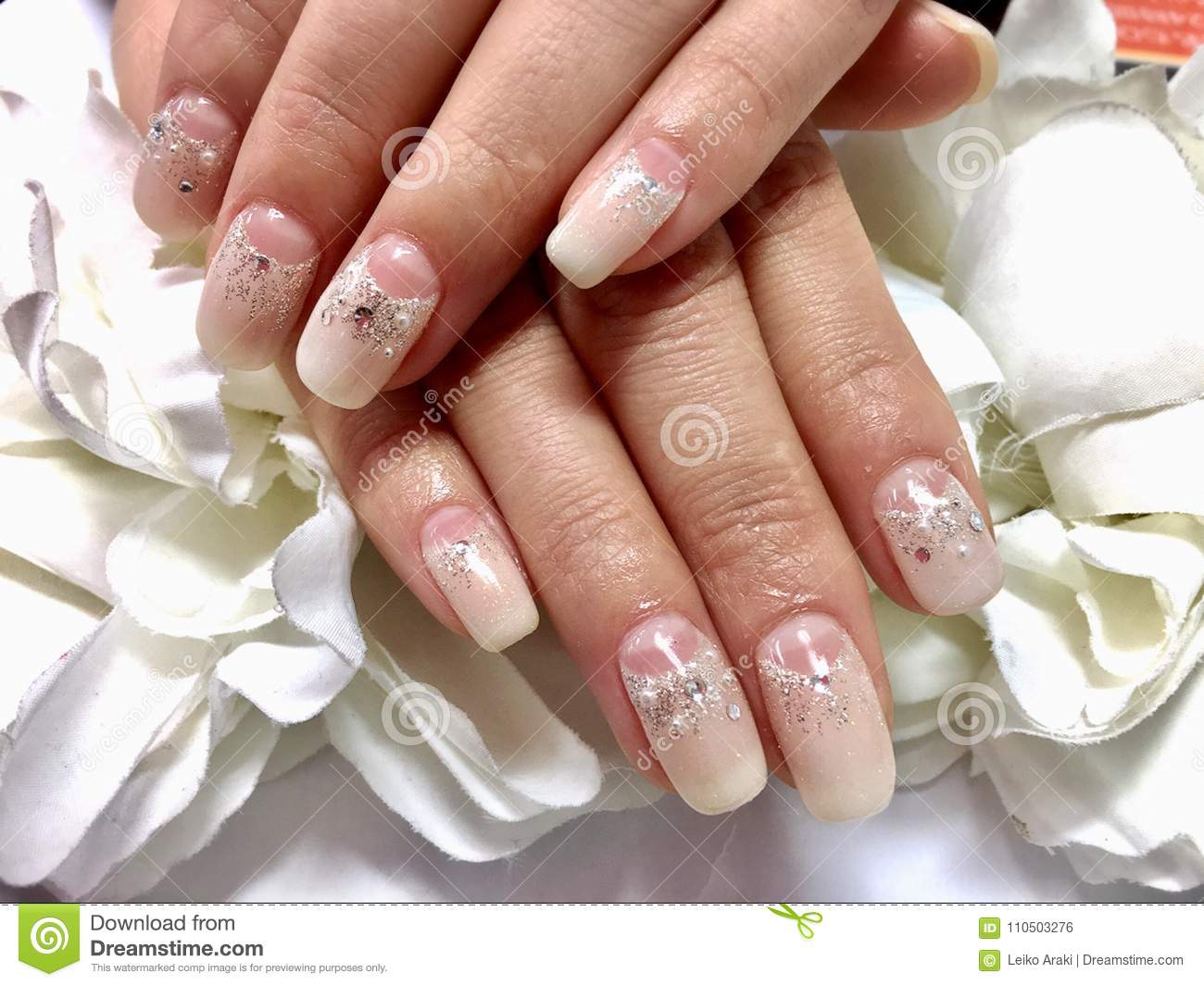 Nails Design For Bride Stock Photo Image Of Beauty 110503276