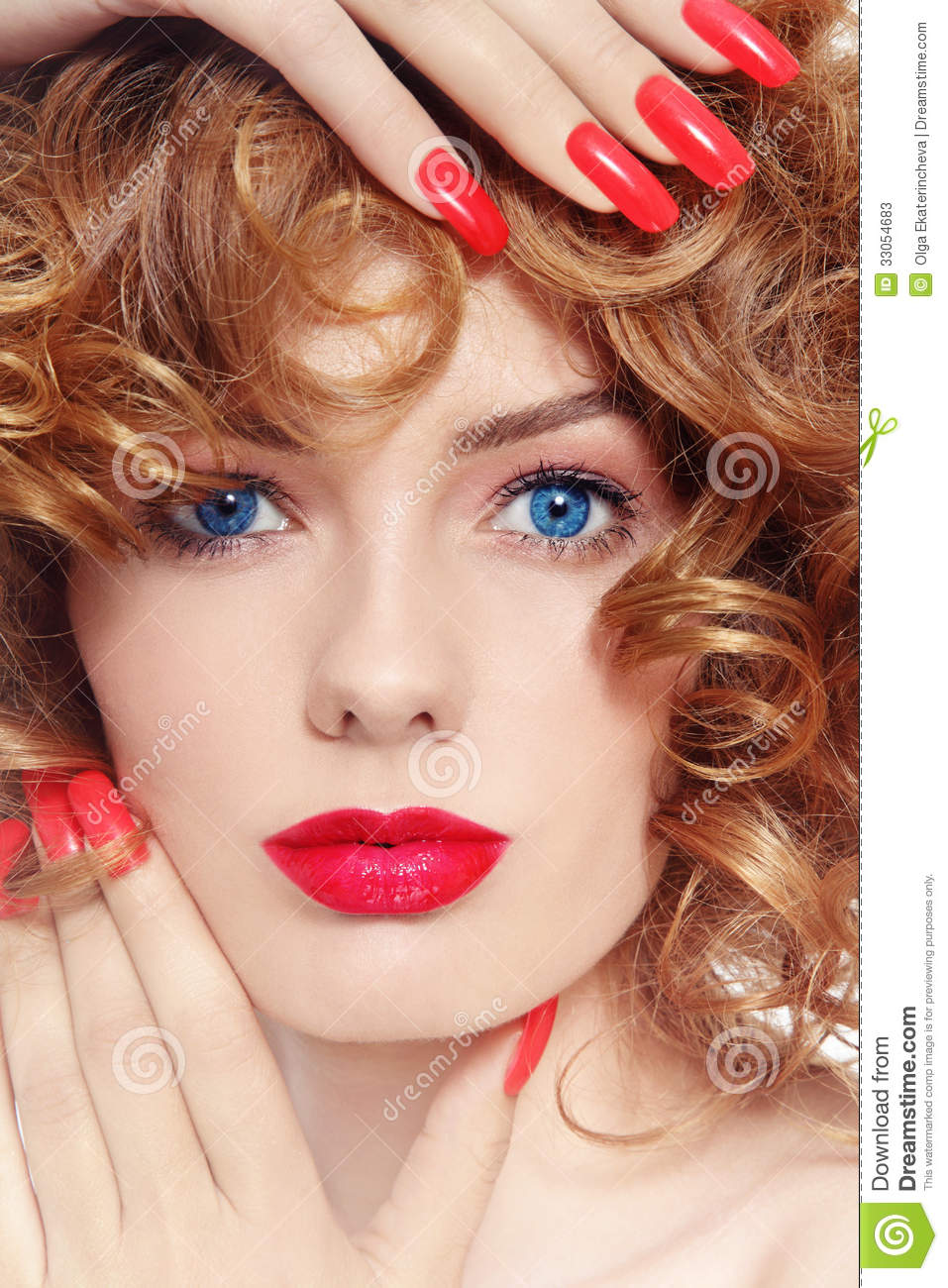 Nails and lipstick stock image. Image of complexion, girl - 33054683