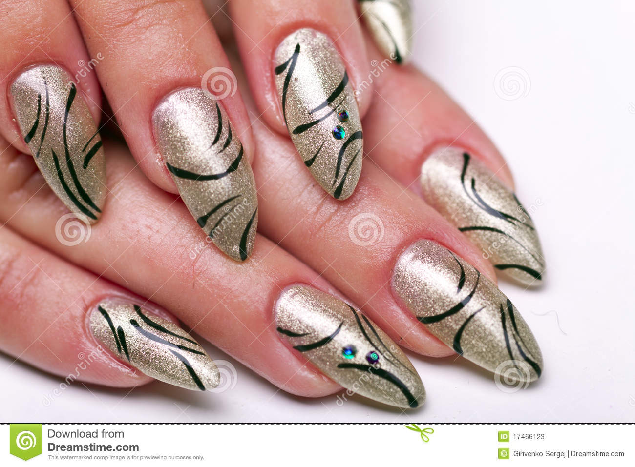 Nails manicure stock image. Image of design, pattern - 17466123