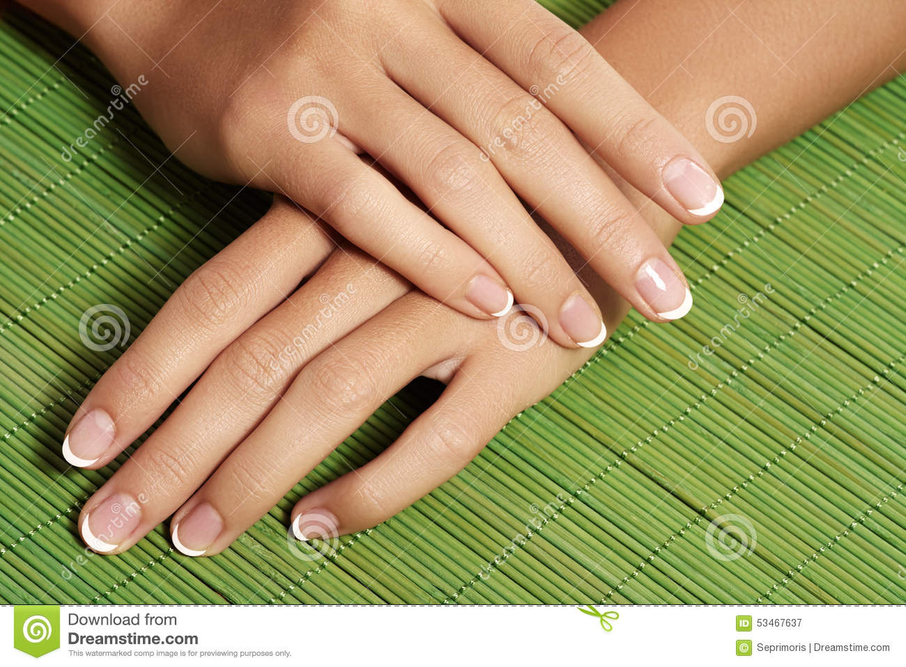 Care Of Man Nails And Manicure In Beauty Center Stock ...
