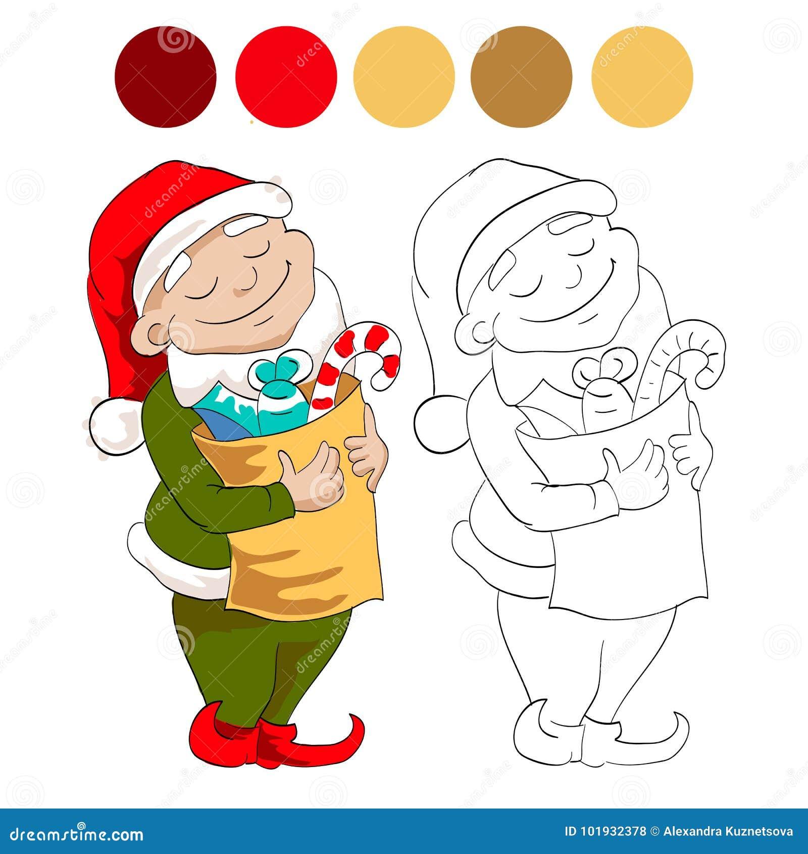 Nain avec des bonbons illustration stock. Illustration du