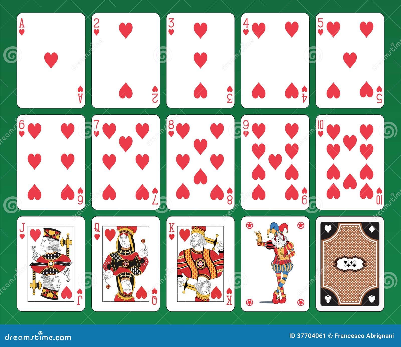 naipes de corazones ilustraci u00f3n del vector imagen de playing card vector designs playing card vector images
