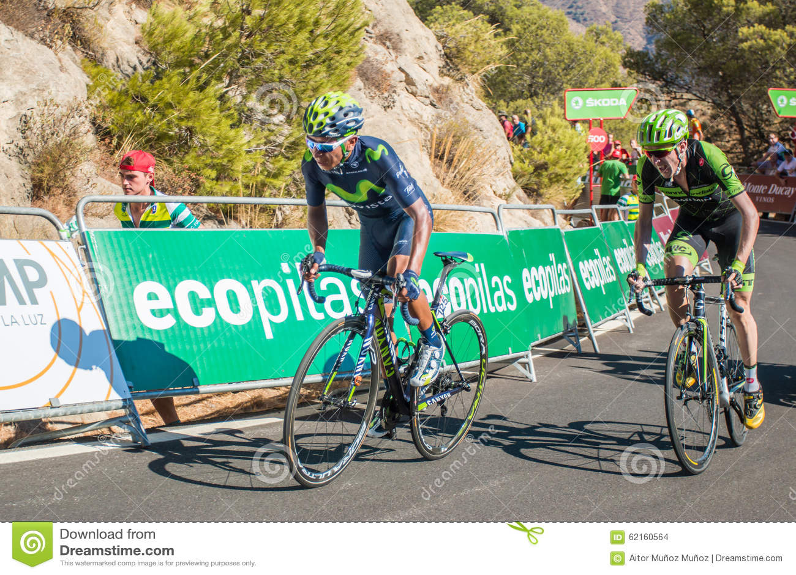 Nairo Quintana on the Tour of Spain