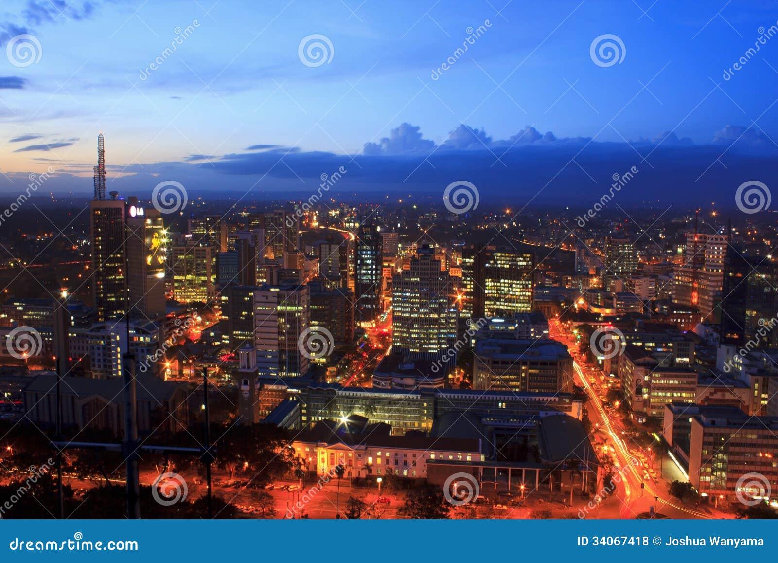 Nairobi Kenya at Night